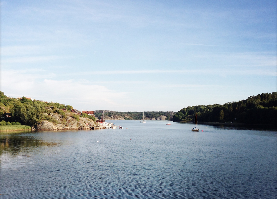View from the cottage at Nösund.