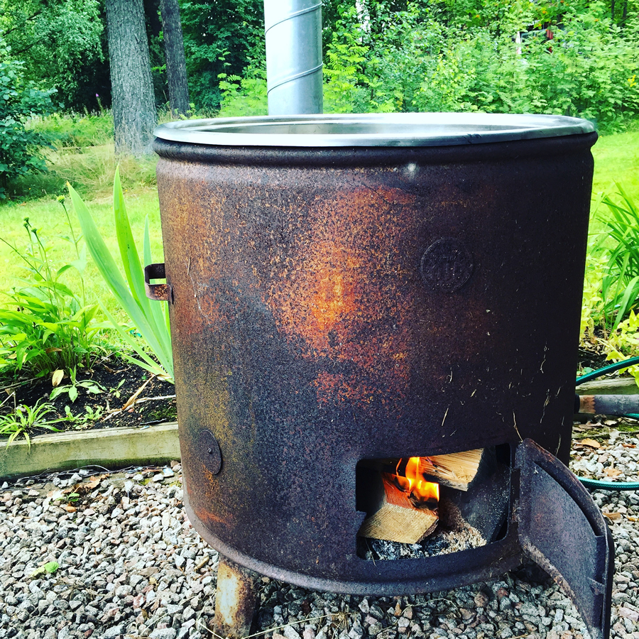 Our wood fired pot, Mora, Sweden