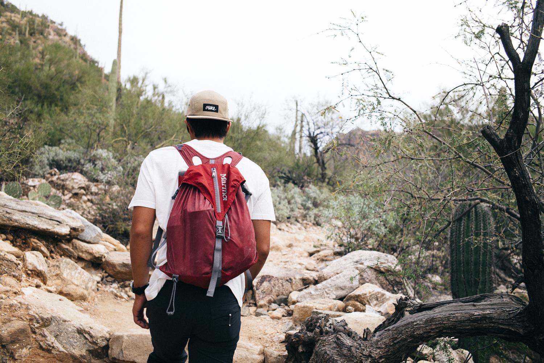 Ben hiking through Bear Canyon towards Seven Falls.