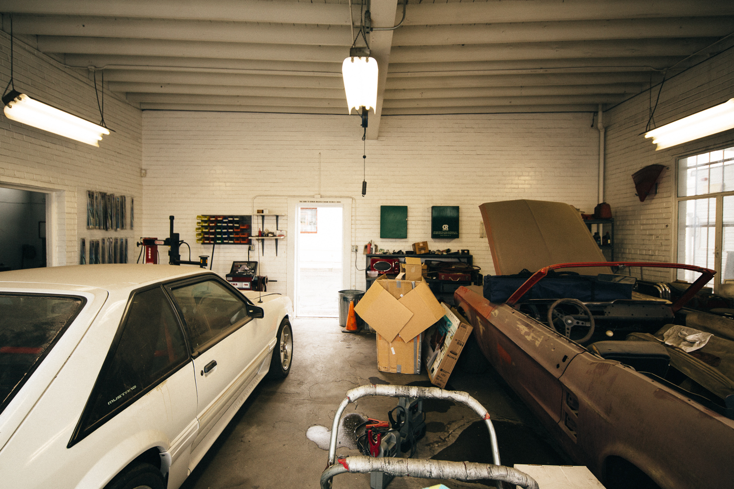 Two-car garage.