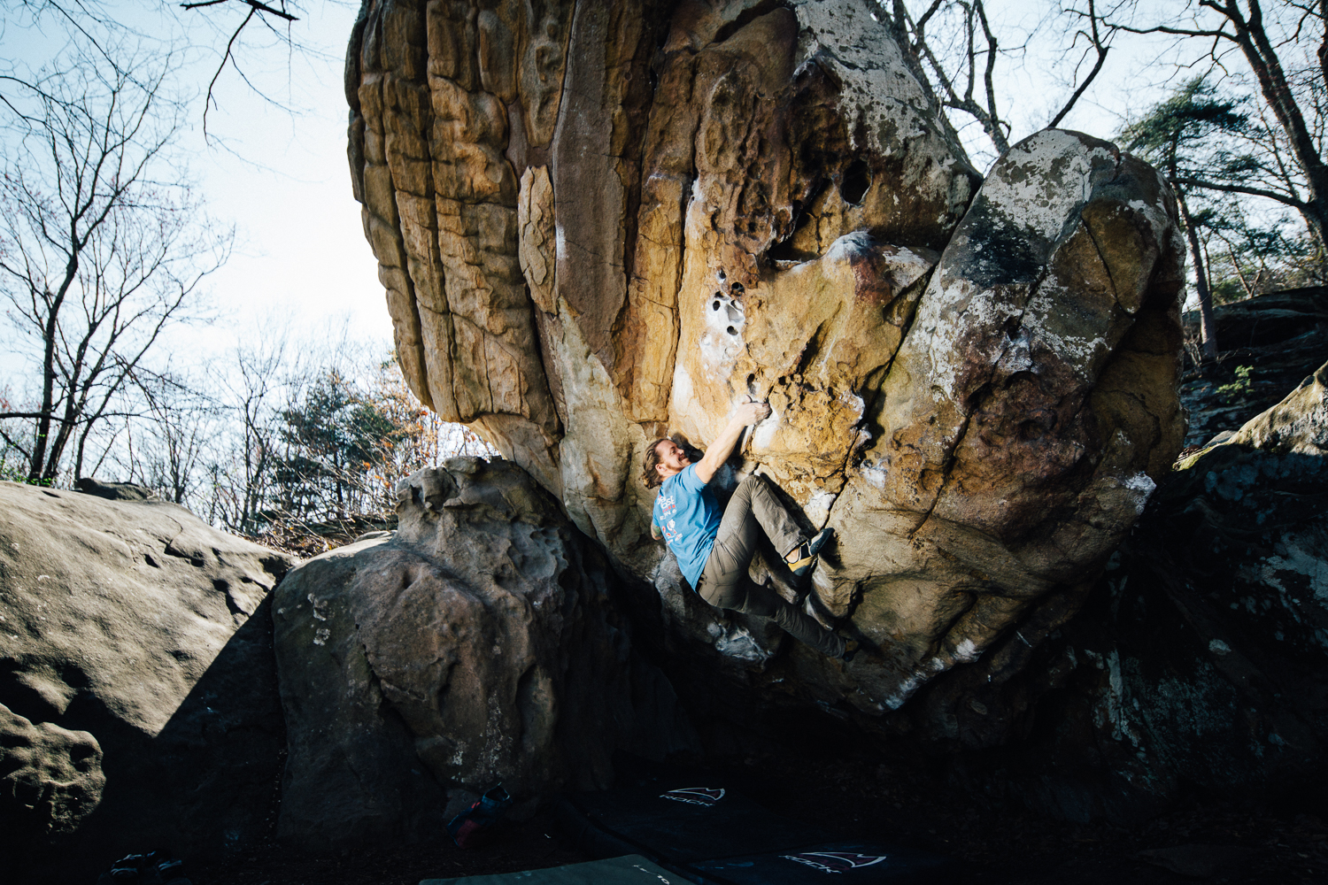 Cody Grodzki warming down after a successful day at Stone Fort, Chattanooga, Tennessee.