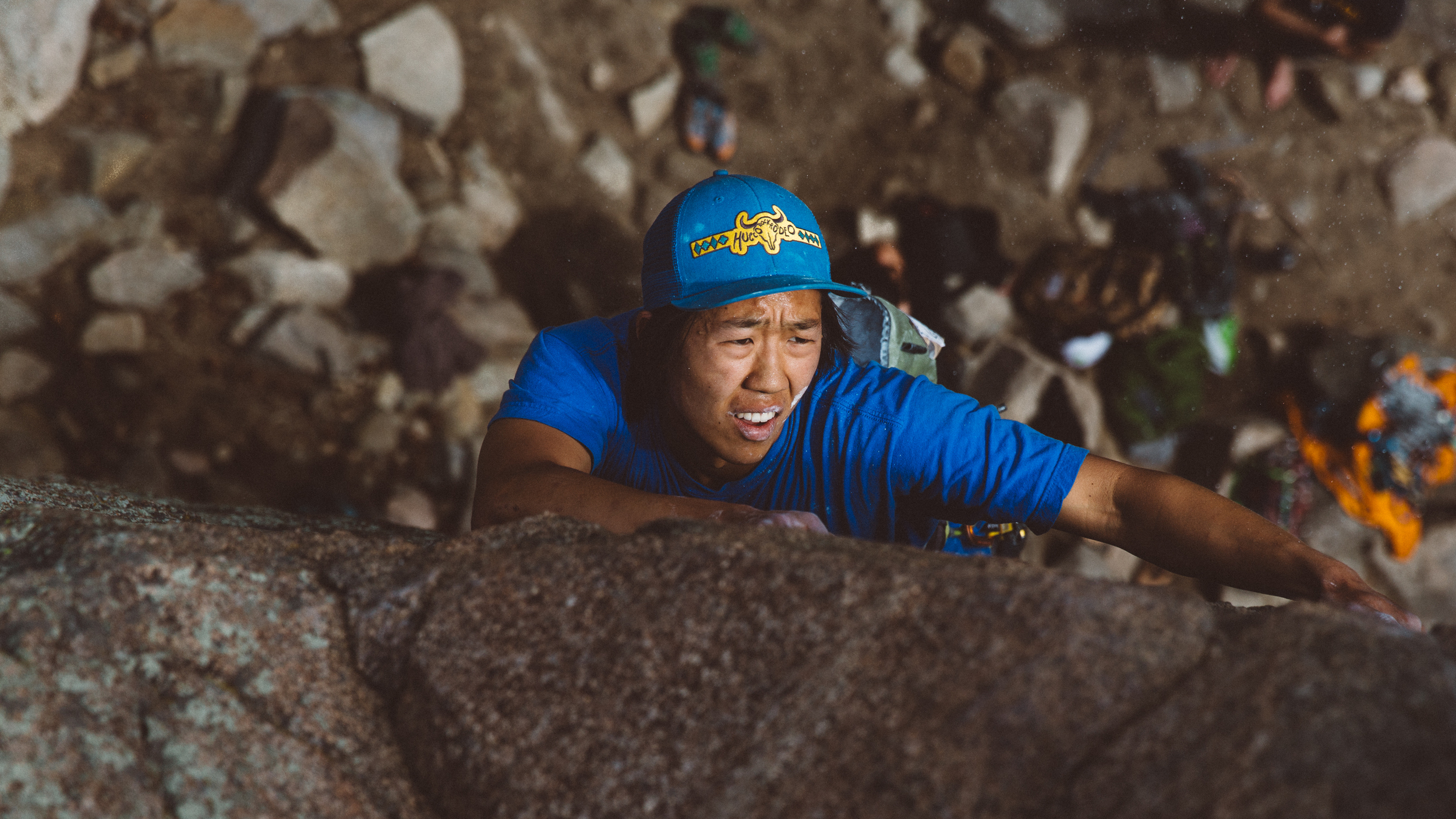 Ben working on his Traditional Climbing Lead skills in Boulder Canyon, Boulder, Colorado.