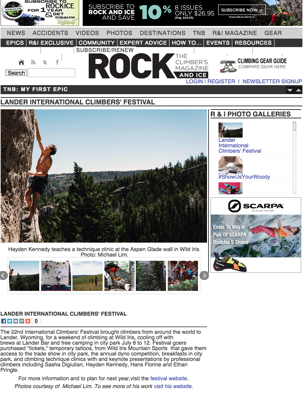 Rock & Ice: International Climber's Festival
