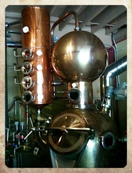 The copper pot still @ Victoria Spirits, BC, Canada