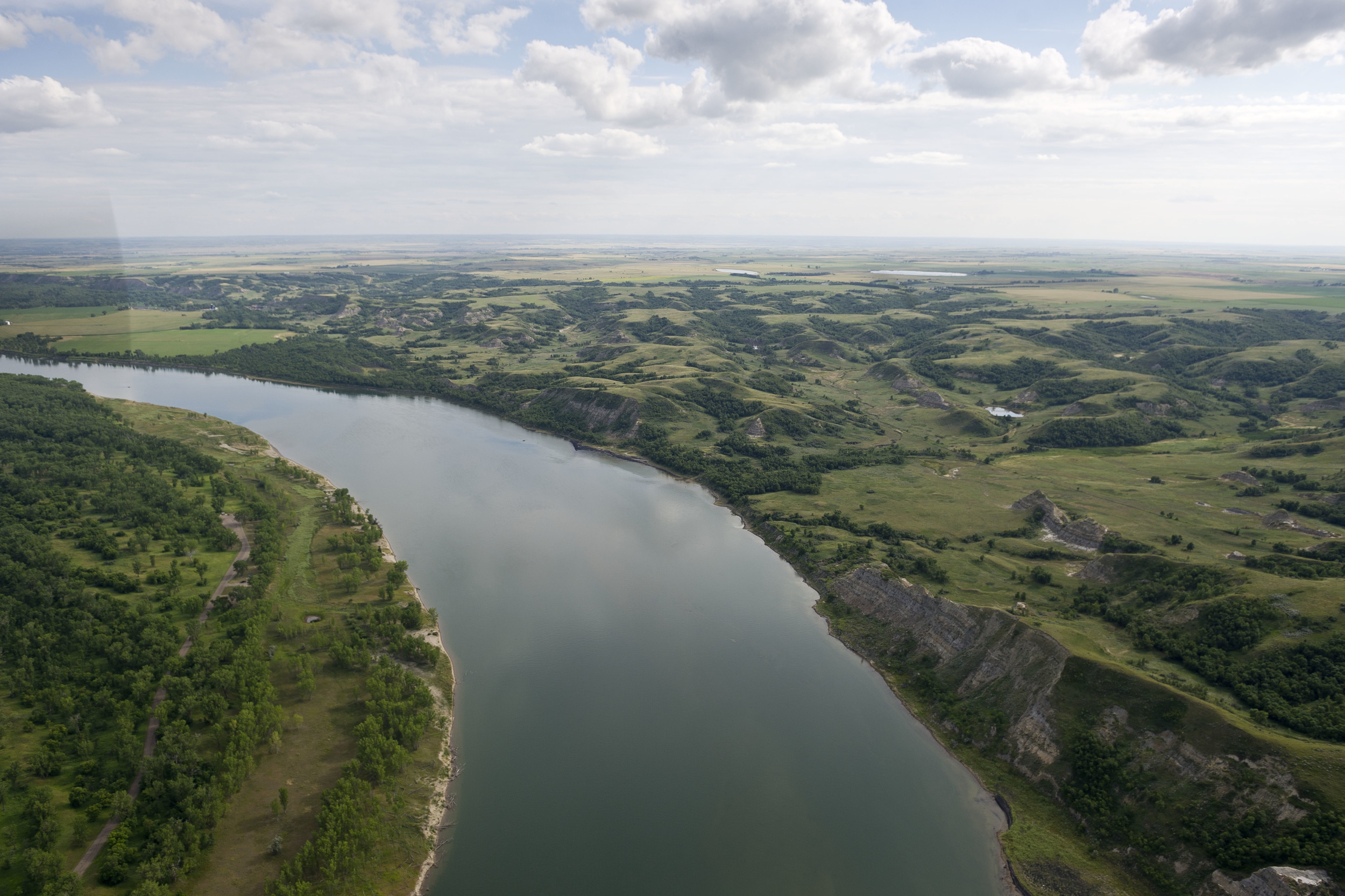 Missouri River, near Lewis and Clarke landing in McLean County, ND.