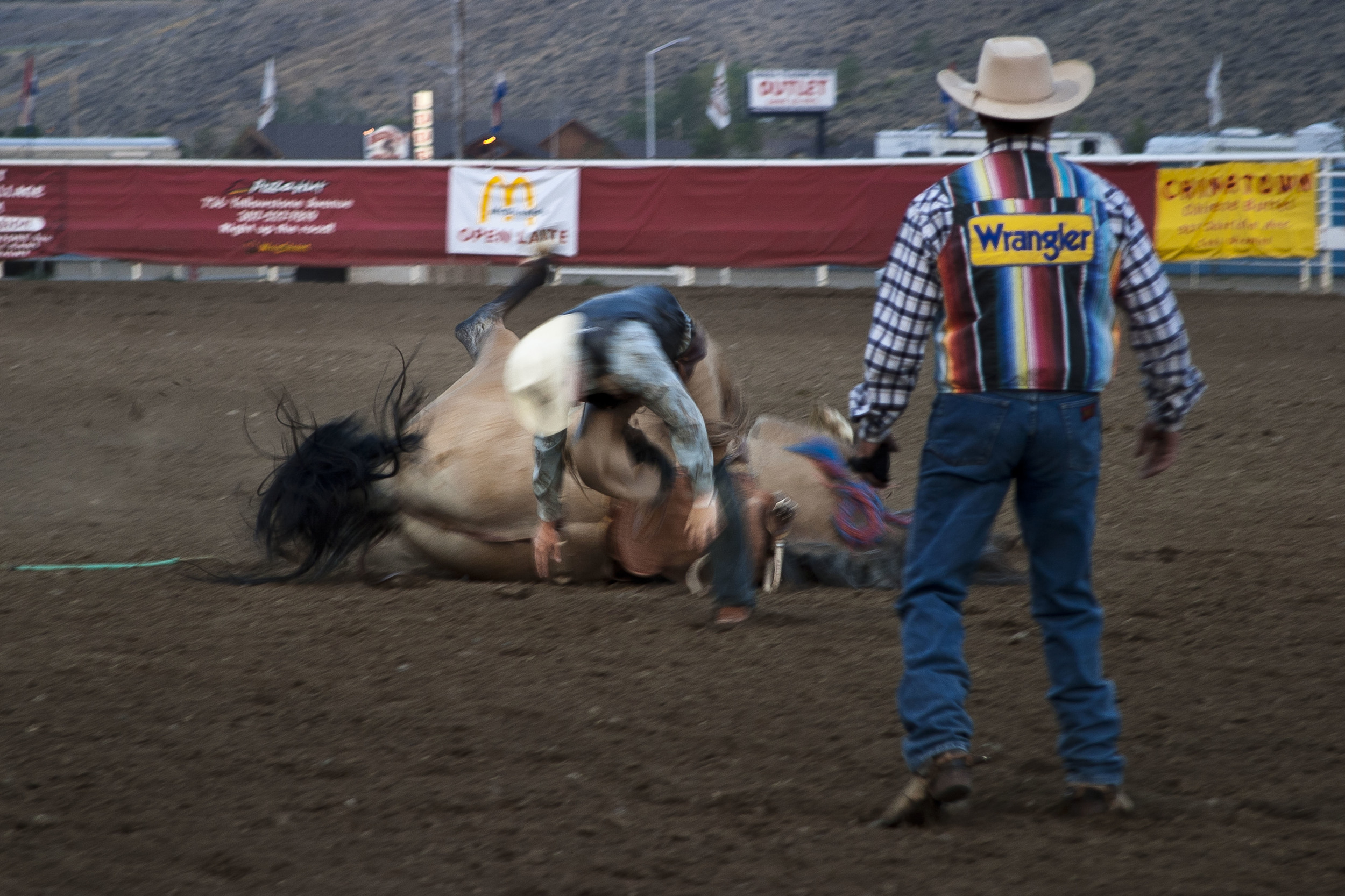 Bucked from a Bronco. Cody, Wyoming.