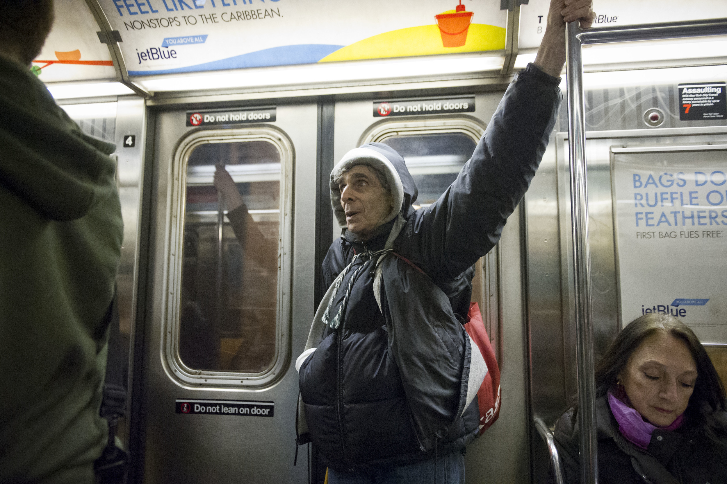 Singing on the Uptown 2 Express. 04/01/14