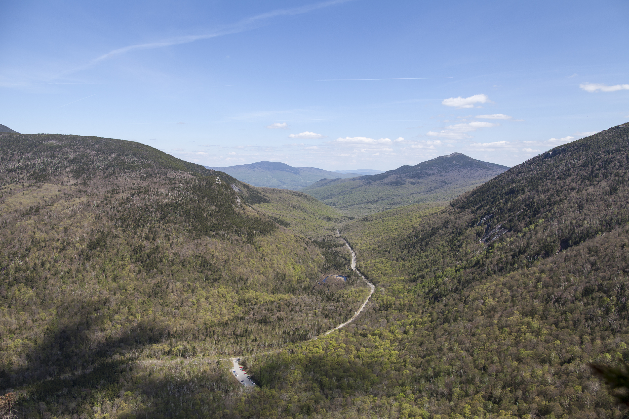 View from the top of Eyebrow Loop at Grafton Notch