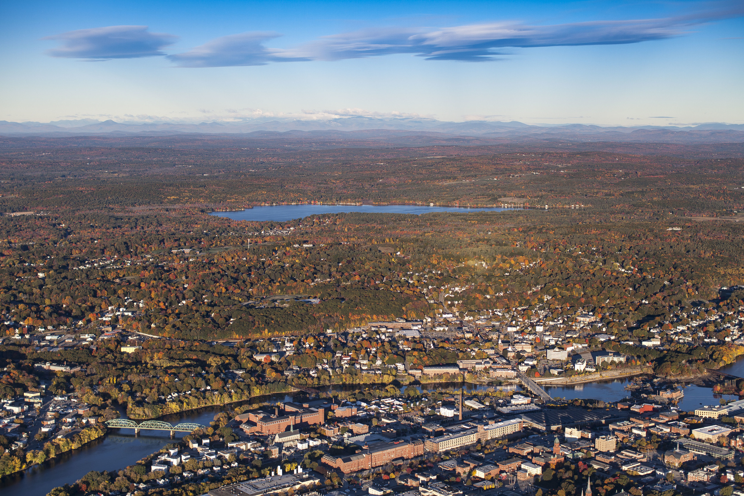 Lewiston-Auburn from above