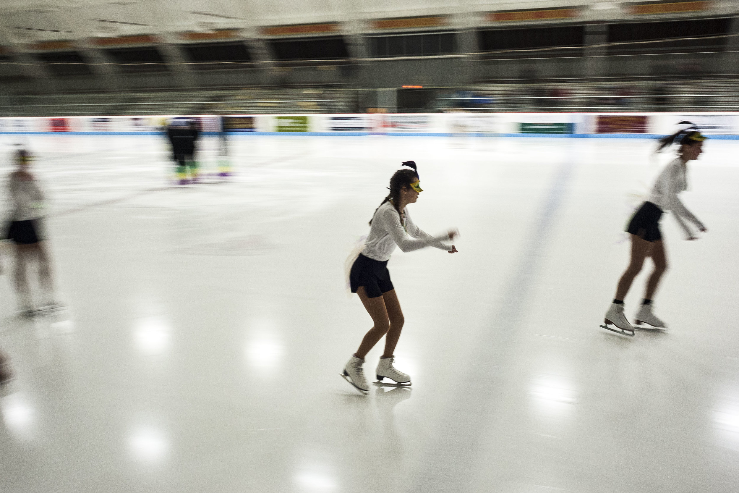 The Barre Figure Skating Club holds a dress rehearsal for their annual show at the B.O.R Ice Arena on Sunday, February 11th 2018.