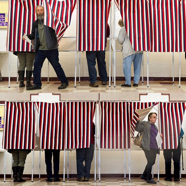 voters emerging from their civic cocoons in Northfield (On Assignment for the Times Argus) #midtermelections #election2018 #voting #vermont #politics #nikon #votingbooth #america #americanpolitics #civicduty #photojournalism #photojournalist #newspaper #editorial