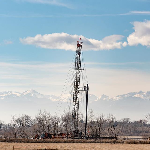 Fracking site near Mead, CO  February 26th, 2019 #colorado #fracking #energy #rockymountains