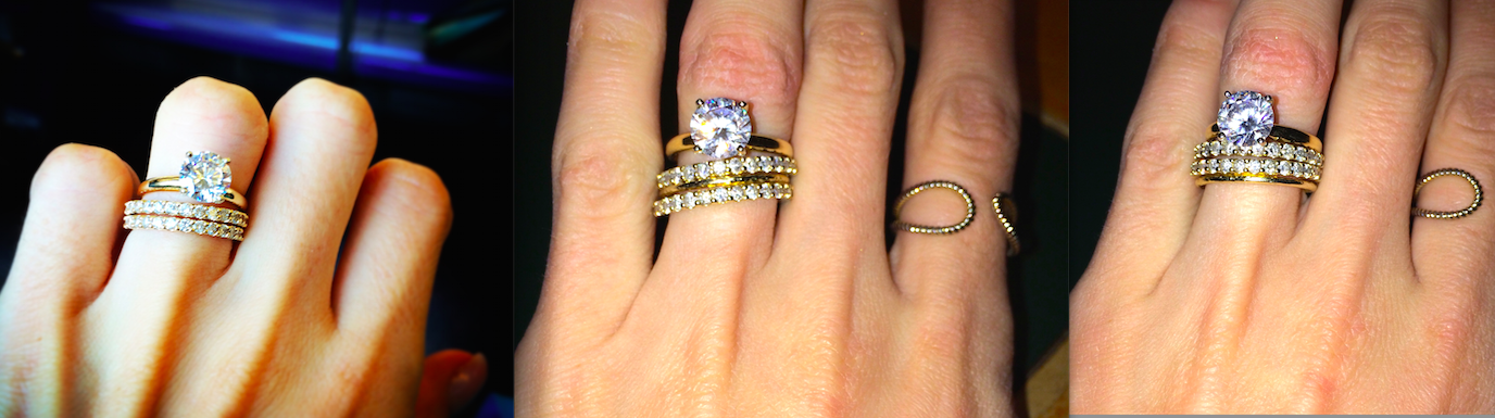 Days after the wedding, option one, and the final stack I decided on. Forgive my dry winter hands. I told you I was obsessed....