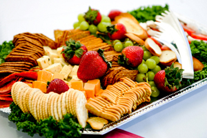 Order food for your bridal party is a must.