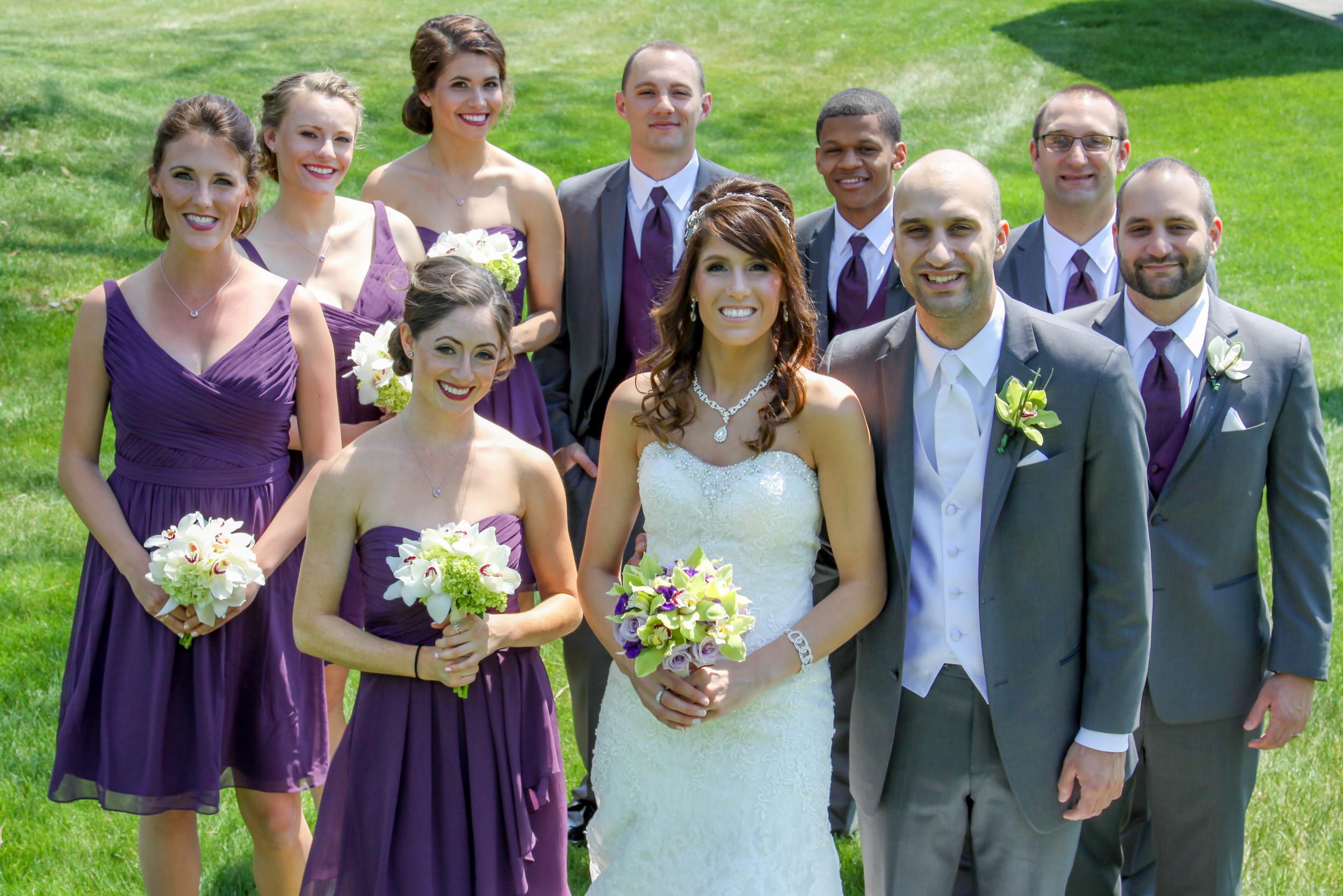 Nice, well lit wedding group photo