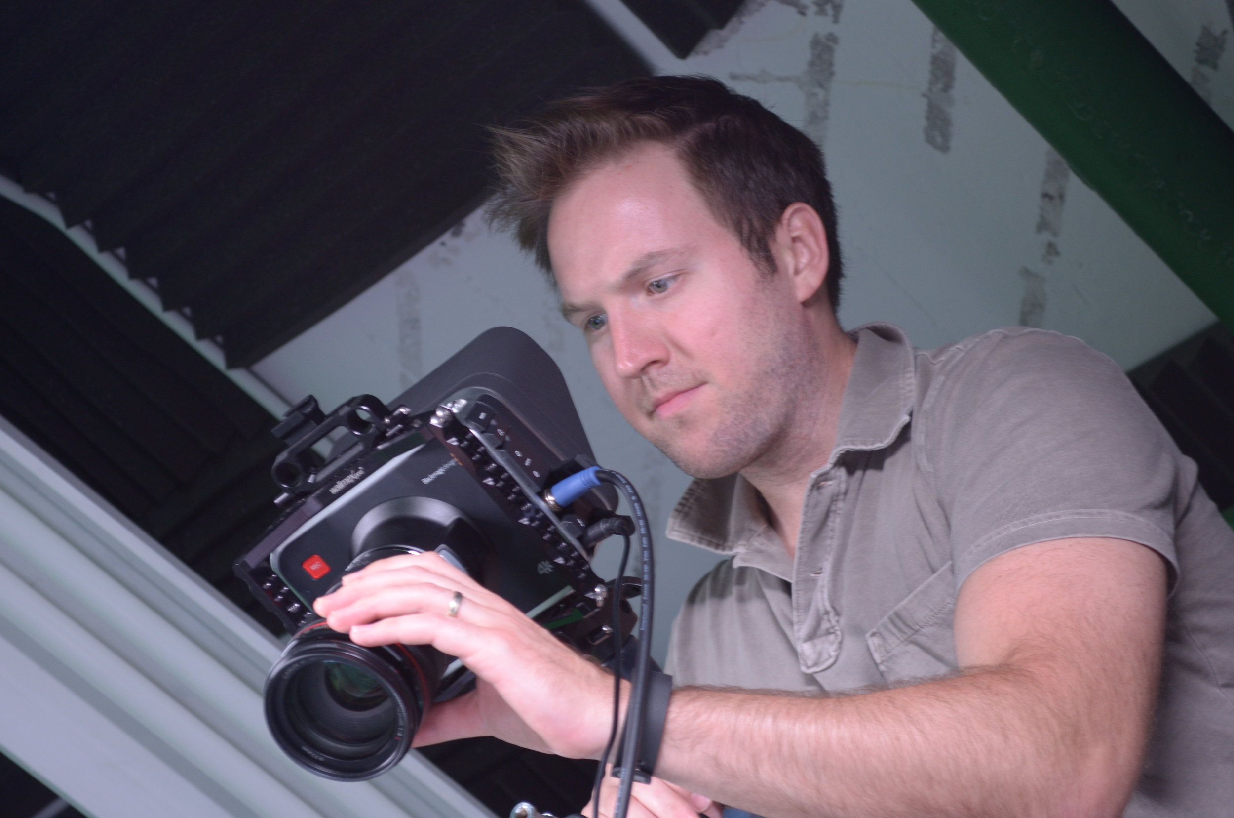 Ryan Geiger behind camera
