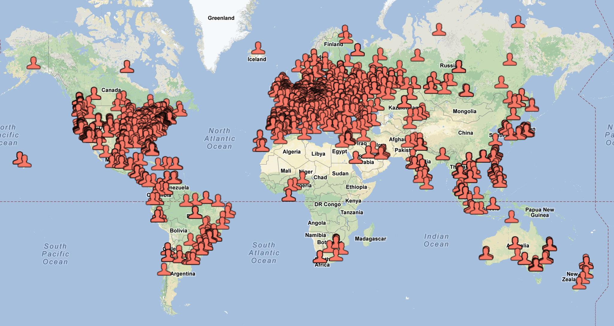 Moredays users around globe