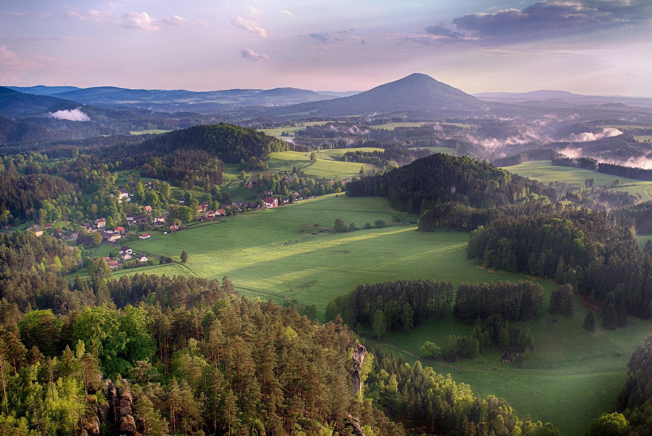 View from Mariina vyhlidka in Jetrichovice, Bohemian Switzerland, Czech Republic