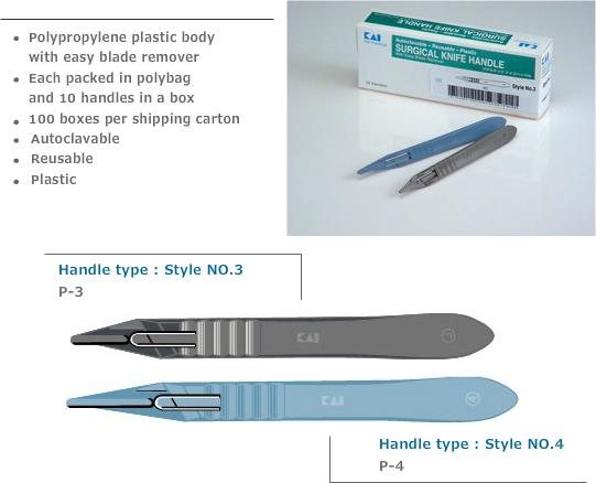 Disposable mesheften scalpel handvat