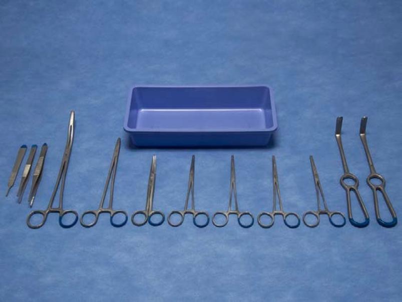 LM2015545 Cholecystectomie (galblaas) set   1 Steriel veld 2 laags PE 33 gr/m2 NW 30 gr/m2 70 x 90 cm blauw  1 Tray PP 270 x 135 x 50 mm blauw  2 Wondhaak Langenbeck 40x10mm 21cm  1 Chirurgisch pincet Gillies 1 x 2 tanden fijn 15,5 cm  1 Chirurgisch pincet standaard 1 x 2 tanden 14,5 cm  1 Mesheft no. 3 12,5 cm  1 Prepareerschaar Mayo gebogen 15,5 cm  2 Arterieklemmen Crile 1 x 2 tanden recht 16 cm  2 Arterieklemmen artery Crile recht 16 cm  1 Naaldvoerder Mayo-Hegar medium fijn 18,5 cm  1 Korentang Maier gebogen met crémaillère 26,5 cm  1 Datasheet A5 + 4 plaklabels