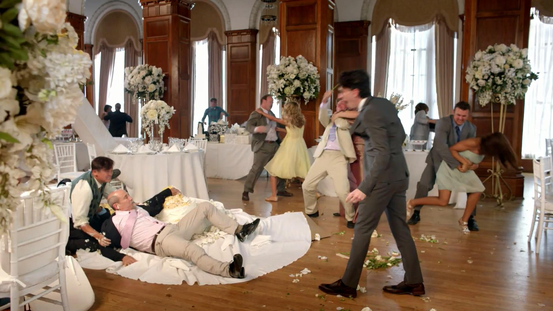 please note, no one was seriously harmed in the making of this photo (and it's certainly not one of our weddings