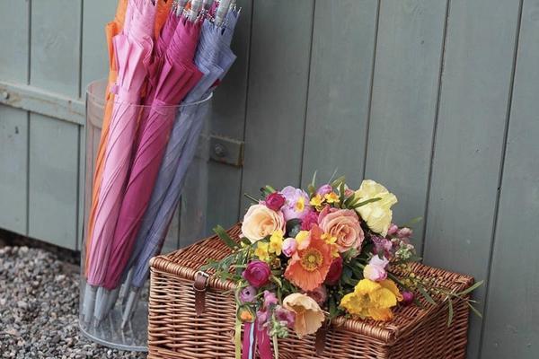 Pastel Wedding Umbrellas