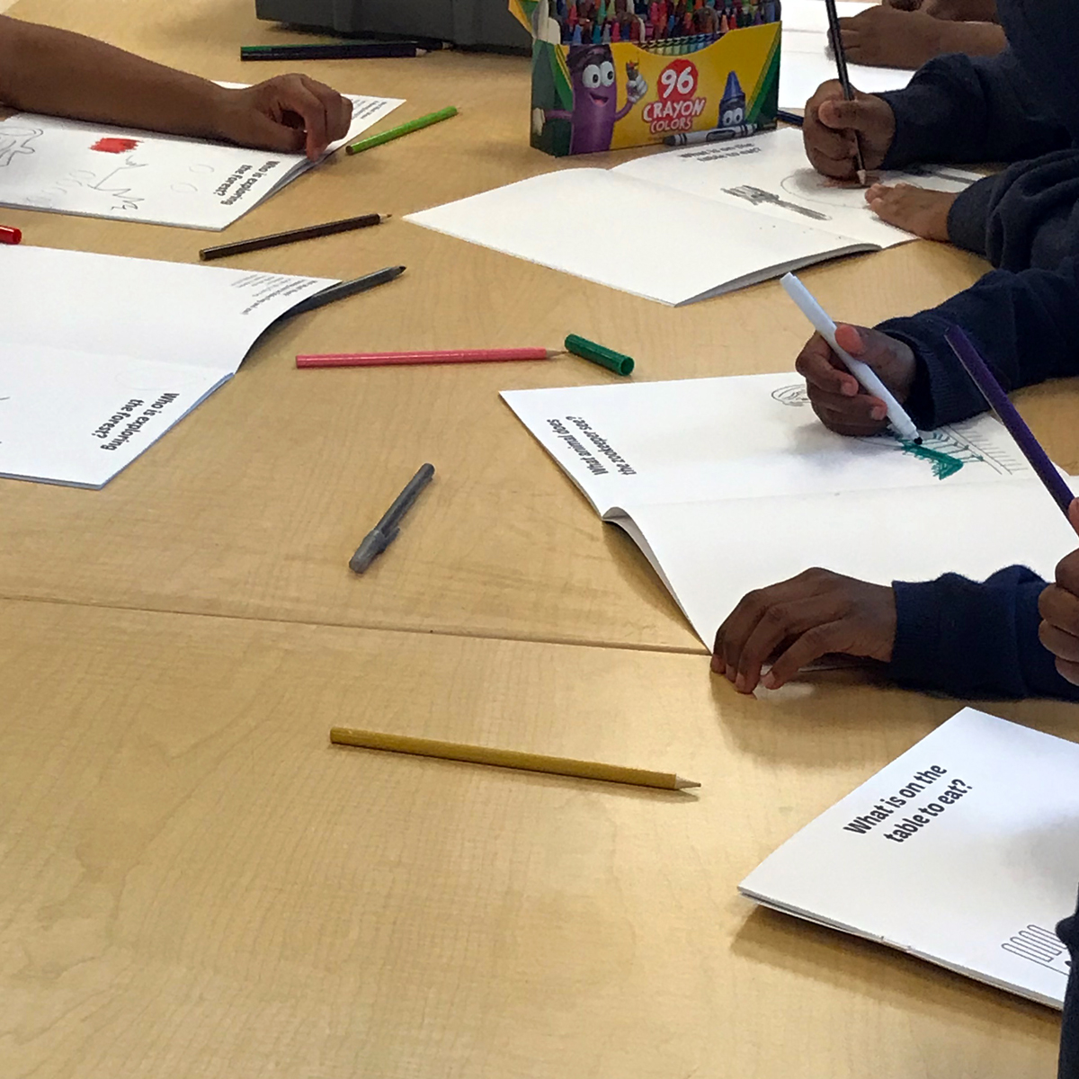A youth drawing class with  Breakthrough  in Garfield Park in Chicago