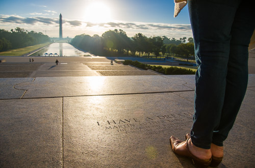 National Mall Lincoln Memorial Washington DC Portrait Photographer