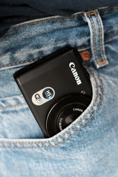 The Canon S110 fits in a relatively tight jean pocket!!!