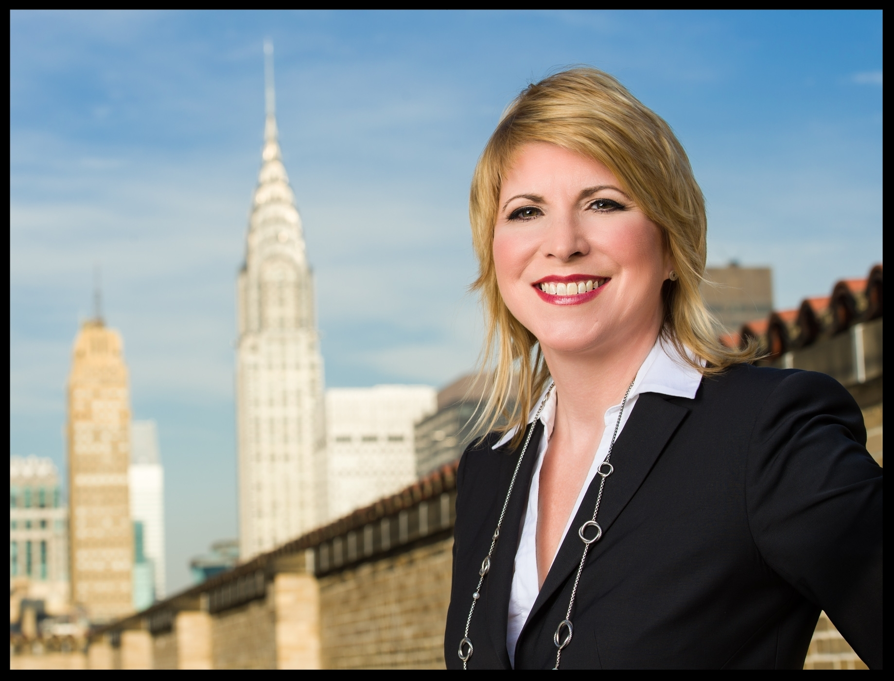 Allyson King of Clarins in New York City NYC for Strayer by Len Spoden Photography