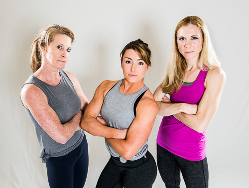 Three female personal trainers