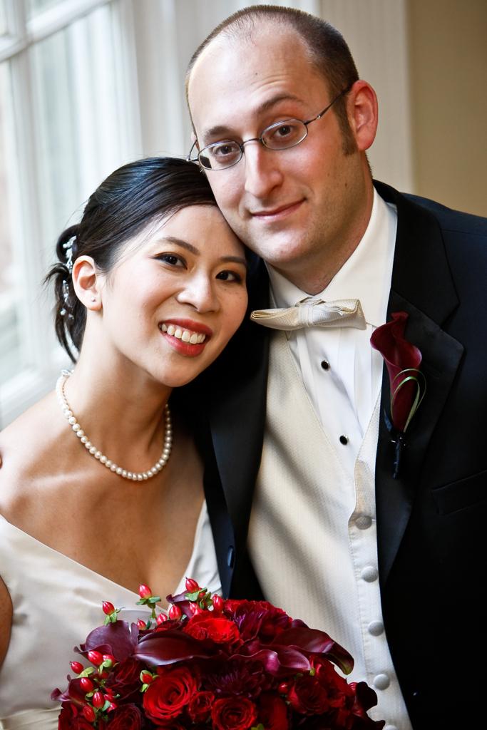 DATE: 20070930PHOTOGRAPHER: Len Spoden  (703) 598-7427LOCATION:  Woodend Sanctuary Chevy Chase MdCAPTION:  Jennifer Nguyen and Joshua Wolk's WeddingBACKGROUND: COPYRIGHT 2007 Len Spoden Photography