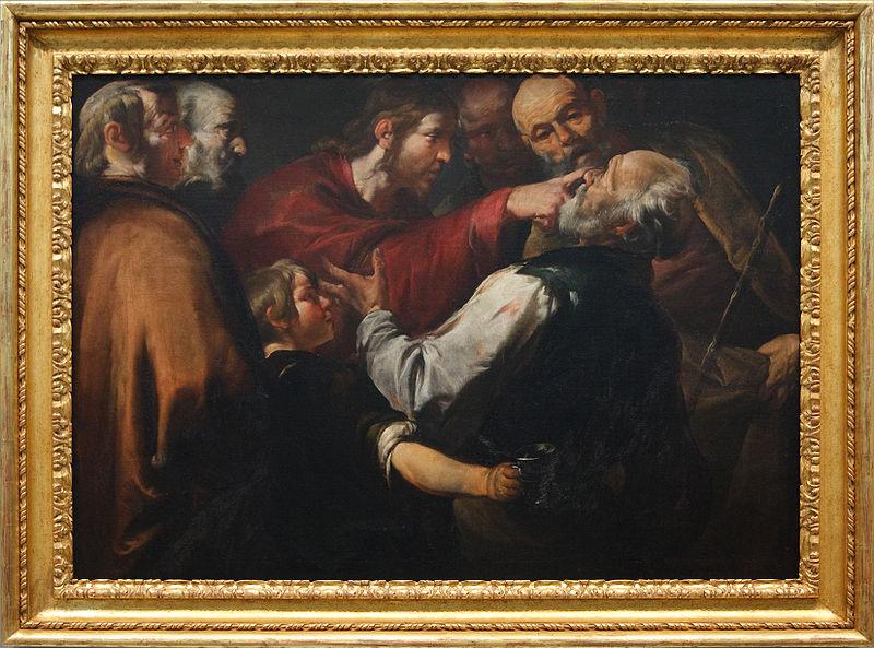 Gioacchino Asserto (ca. 1640) Christ Healing the Blind Man