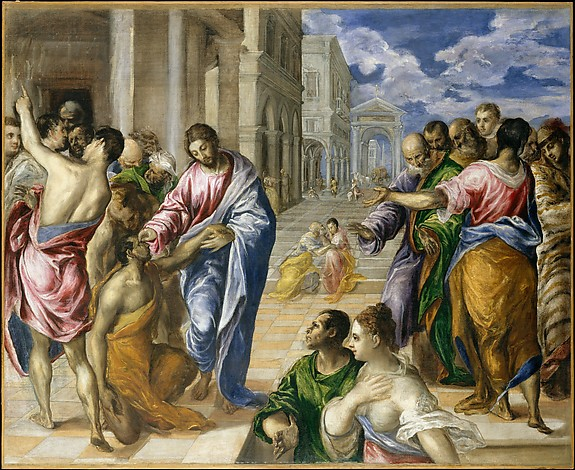 Christ Healing the Blind, El Greco, 1570. The Metropolitan Museum of Art, 1978.416