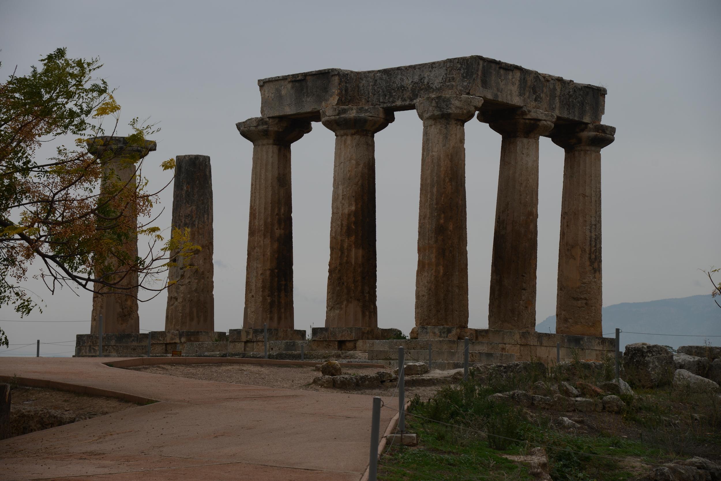Temple of Apollo, Corinth, Greece, Nov 2014