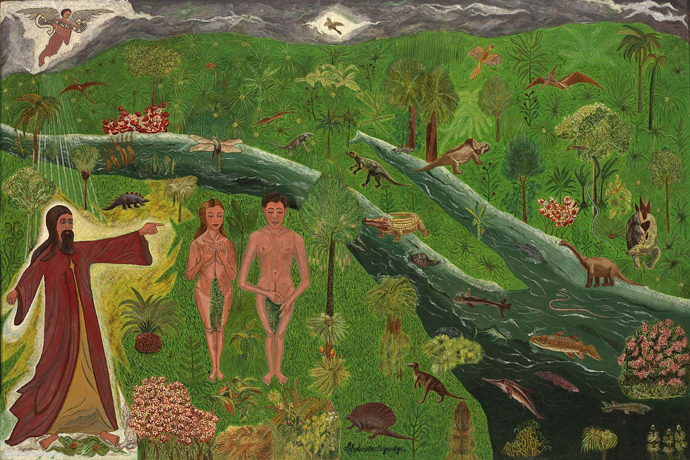 Garden of Eden- Alexander Bogardy (20th century) Courtesy of Smithsonian American Art Museum- Renwick Gallery