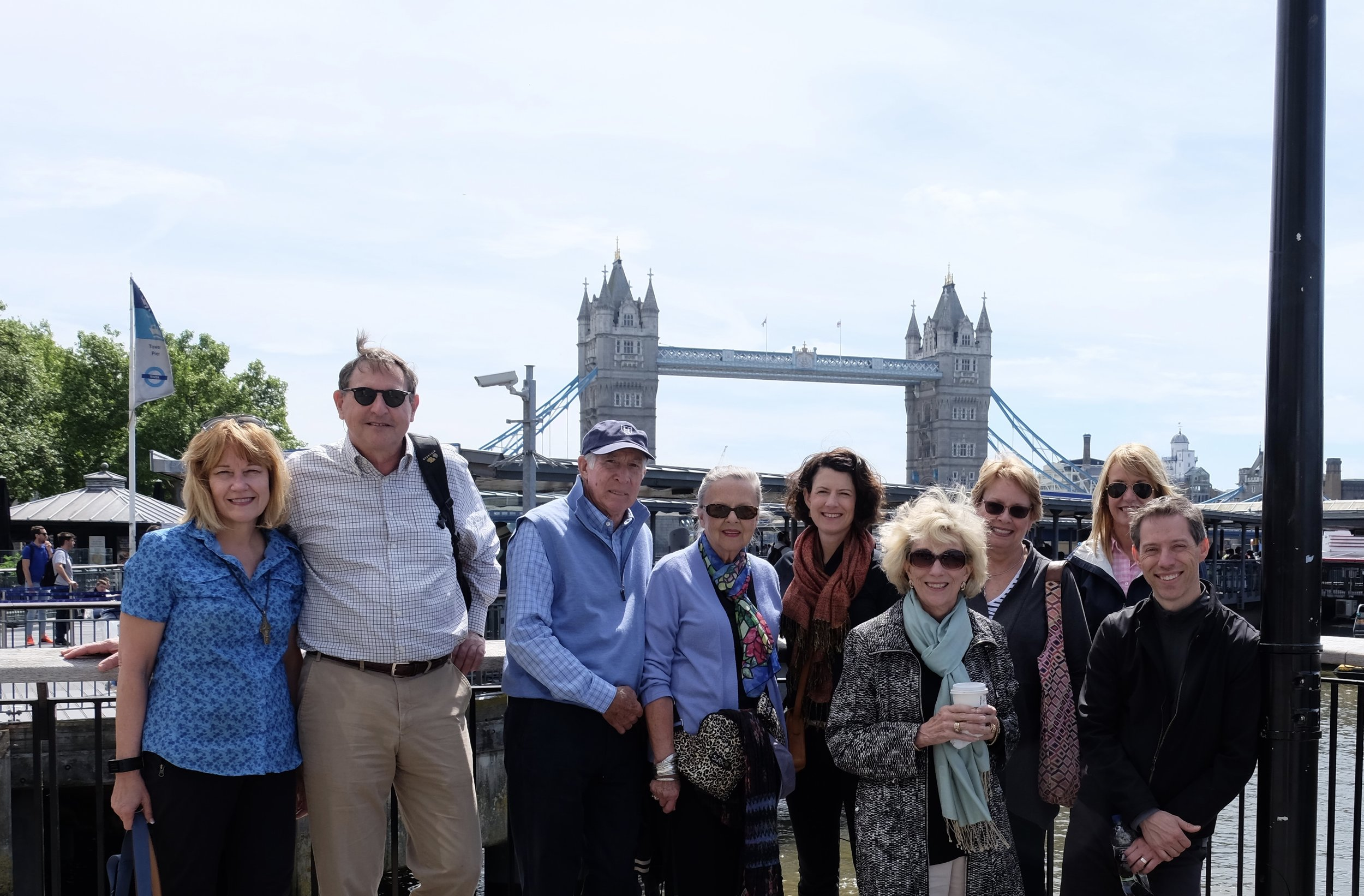 Nine of the 39 pilgrims to England tracing our Anglican roots