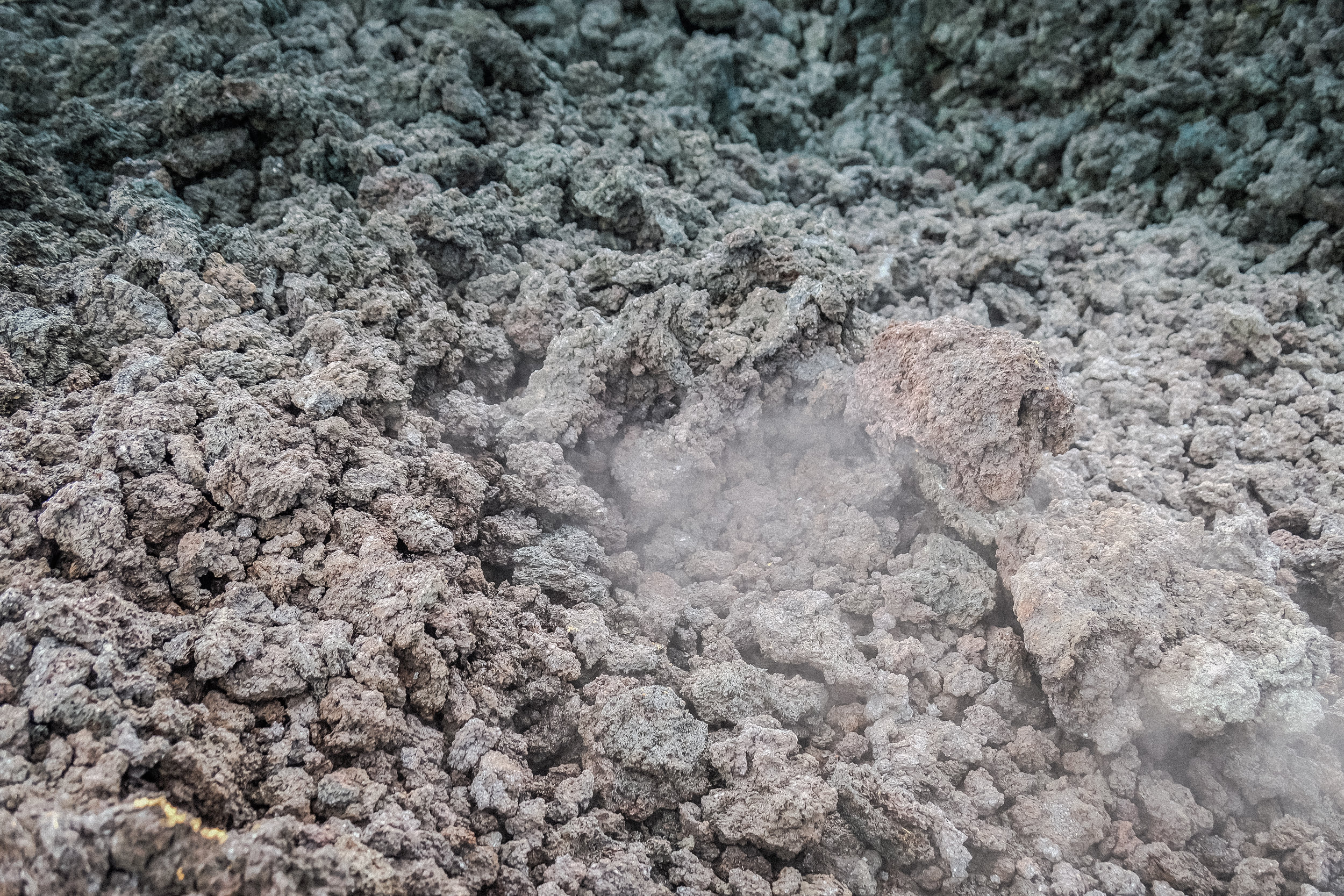 Lava Rock and Volcanic Steam, Vulcán de Pacaya, Guatemala