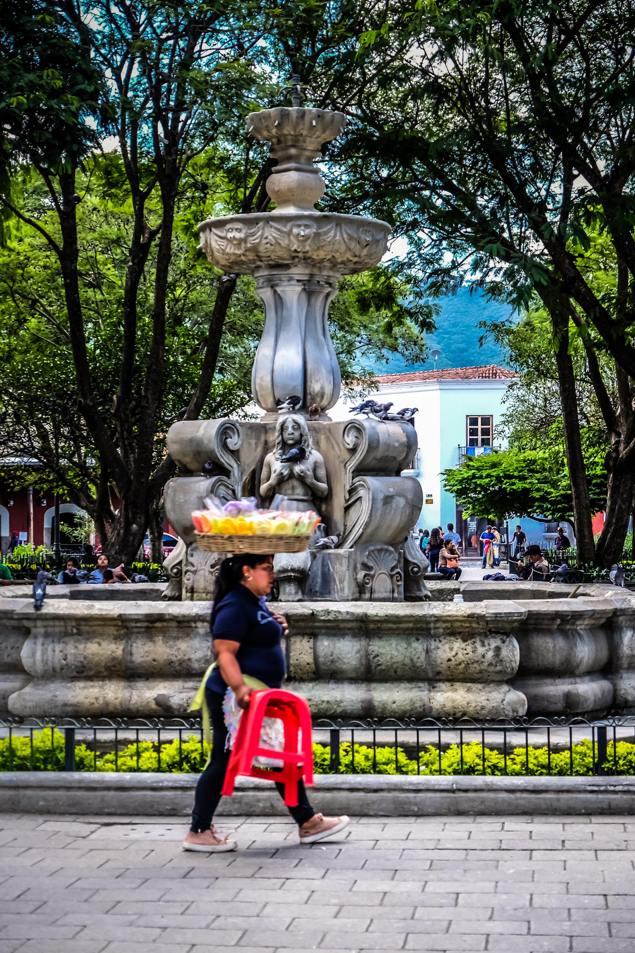 Paletas vendor, Parque Central, Antigua, Guatemala
