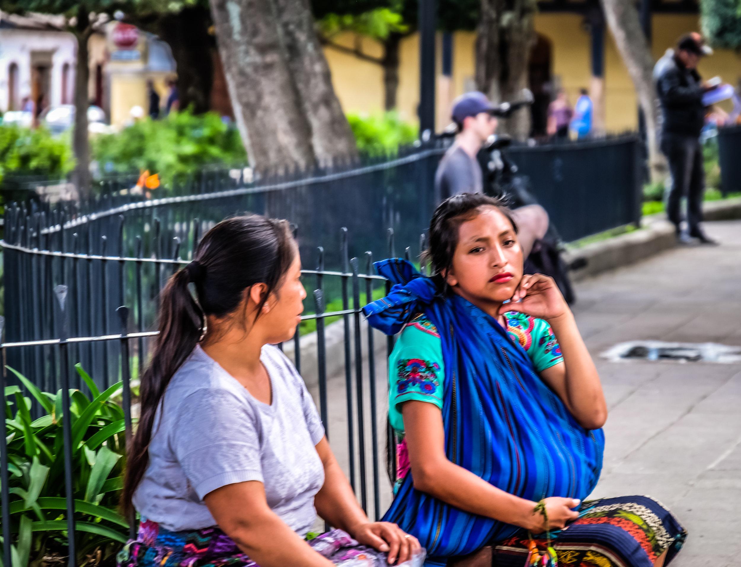For Sale, Mayan vendors, Parque Central, Antigua, Guatemala