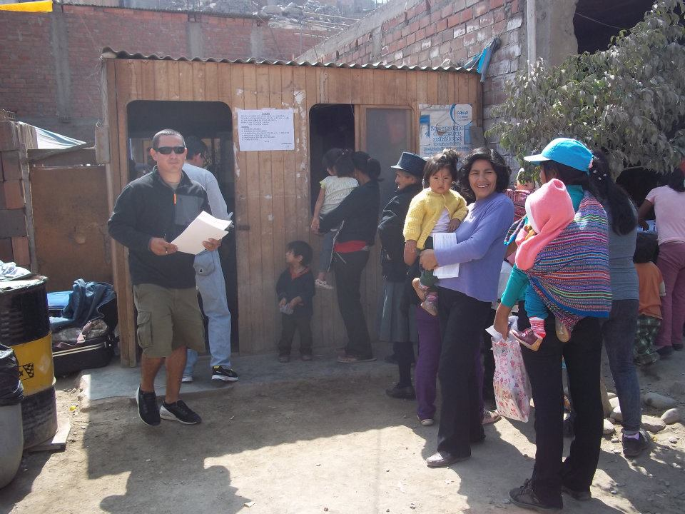 A couple of families let us move into their homes so we could set up a clinic.
