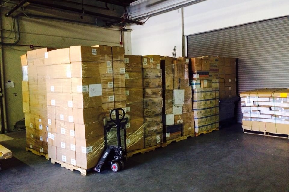 Pallet of Supplies at the VIDA warehouse