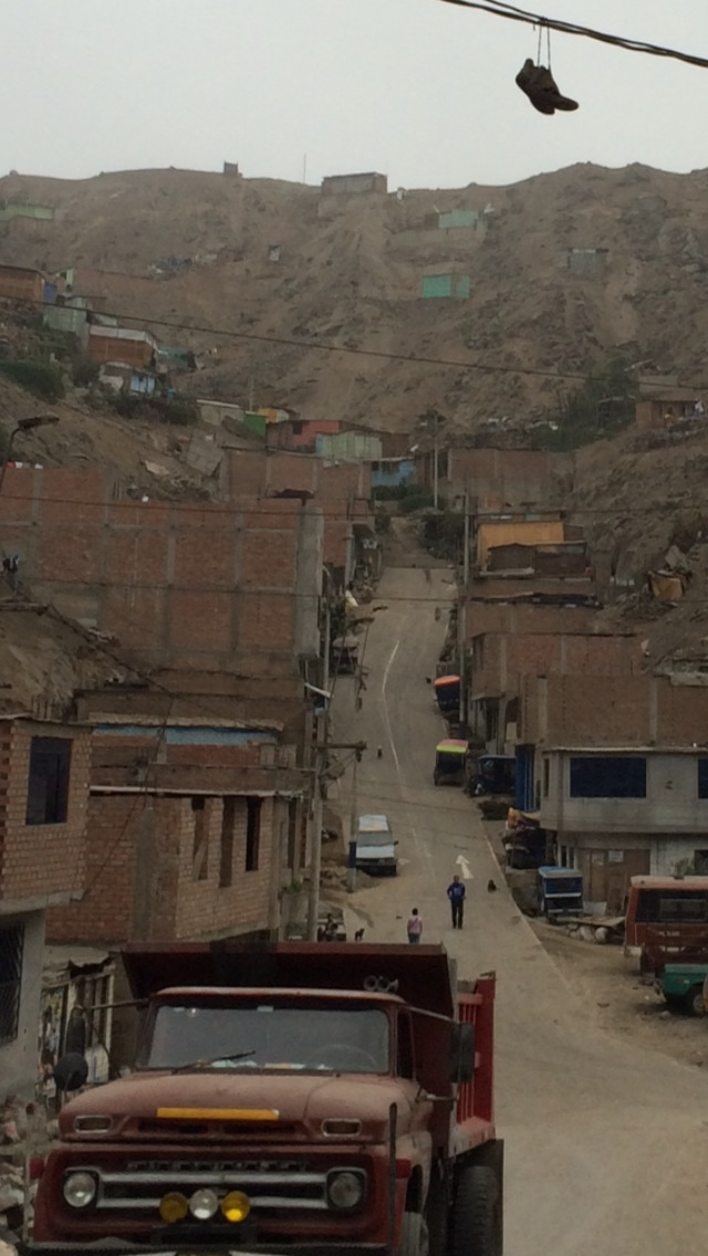 A typical street, dirty, dusty and steep as it stretches up into the hills