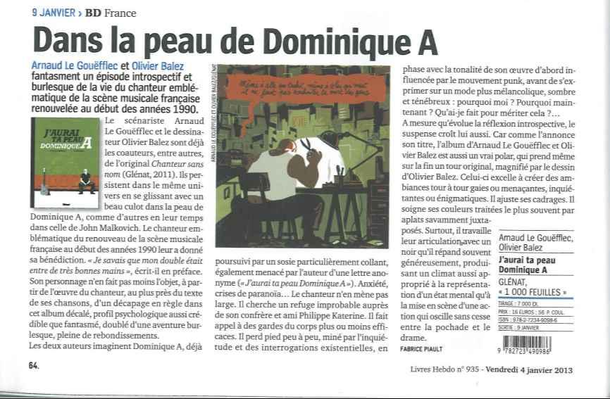 J'aurai ta peau Dominique A Livres Hebdo.jpg