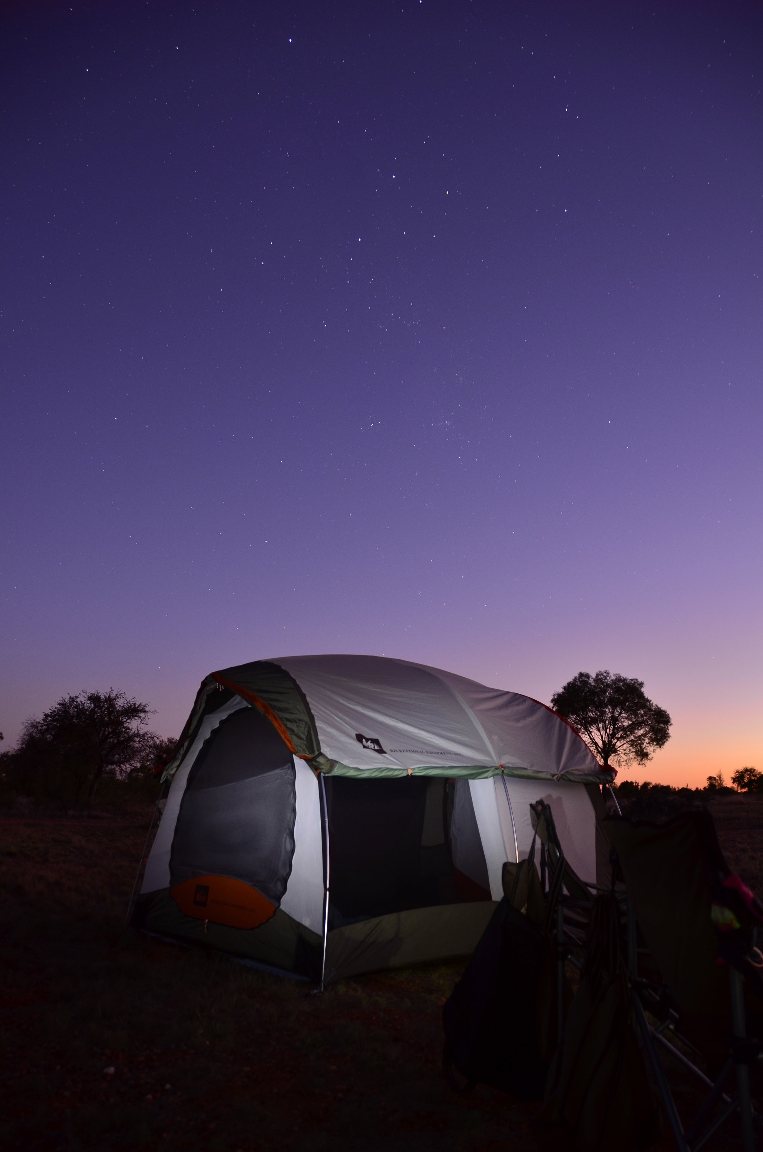 Tent with Southern Cross