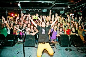 Watsky (and audience) at The Middle East Downstairs, July 12, 2012