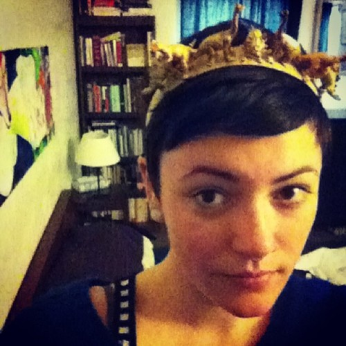 for real though, I'll make you a dinosaur crown as awesome as this one (for a modest fee)