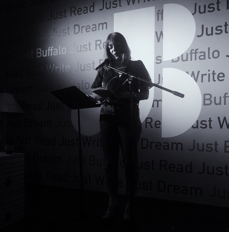 reading for Peach Mag at the Just Buffalo Writing Center / photo by Bee Walsh