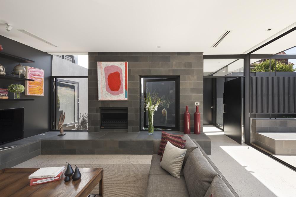 Toorak House. Living Room