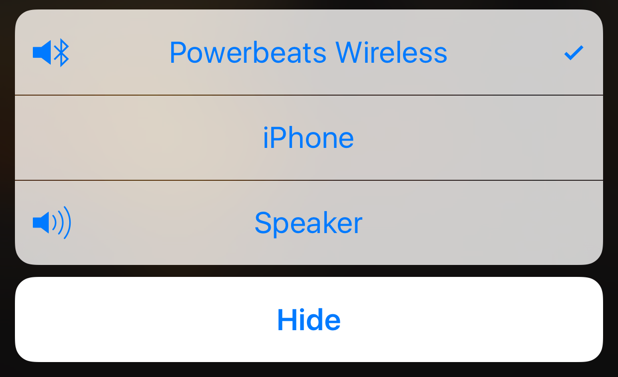 Choose your own audio route